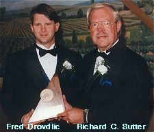 Fred Drovdlic (left) and Richard Sutter, Altoona Chamber of Commerce Annual Awards Banquet